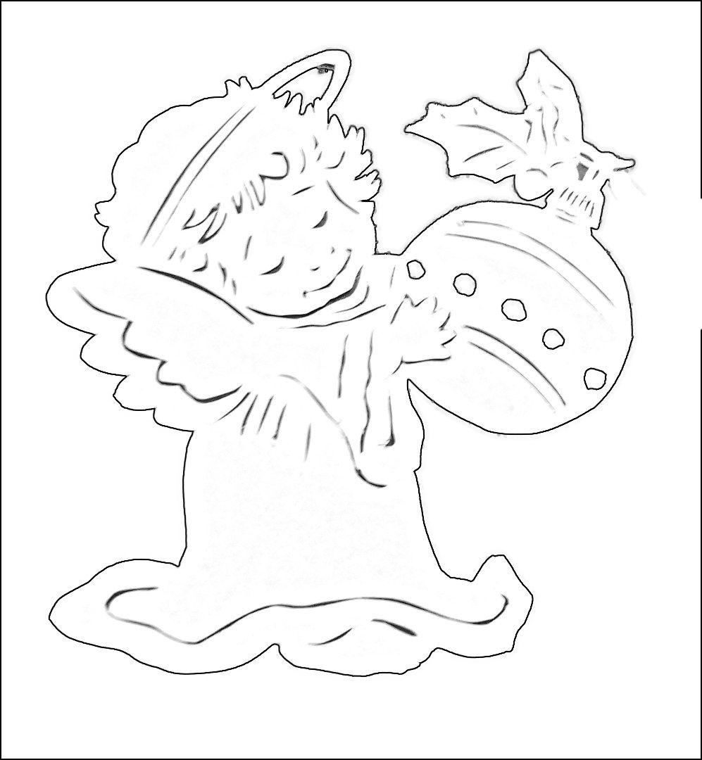новогодние ангелочки картинки для вырезания из бумаги духи