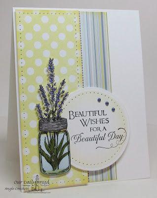 ODBD Canning Jars, Lavender, Sentiments Collection 2, Card Designer Angie Crockett