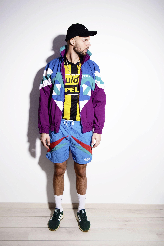 27c1f37fcbc8d Vintage windbreaker jacket for men in multi colour | 90s 80s retro ...