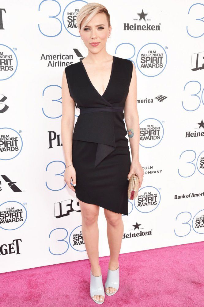 Scarlett Johansson's Spirit Awards 2015 Red Carpet Dress - Hollywood Reporter