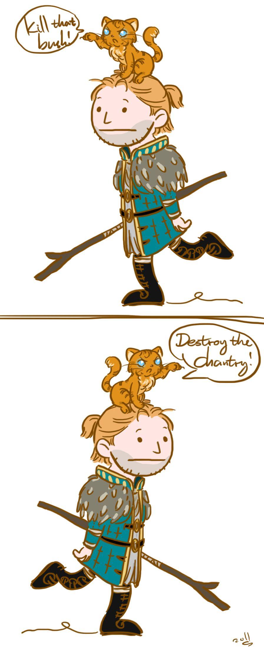 Kitten Made Me Do It Spoiler By Majesticnocturne On Deviantart Dragon Age Dragon Age 2 Kitten