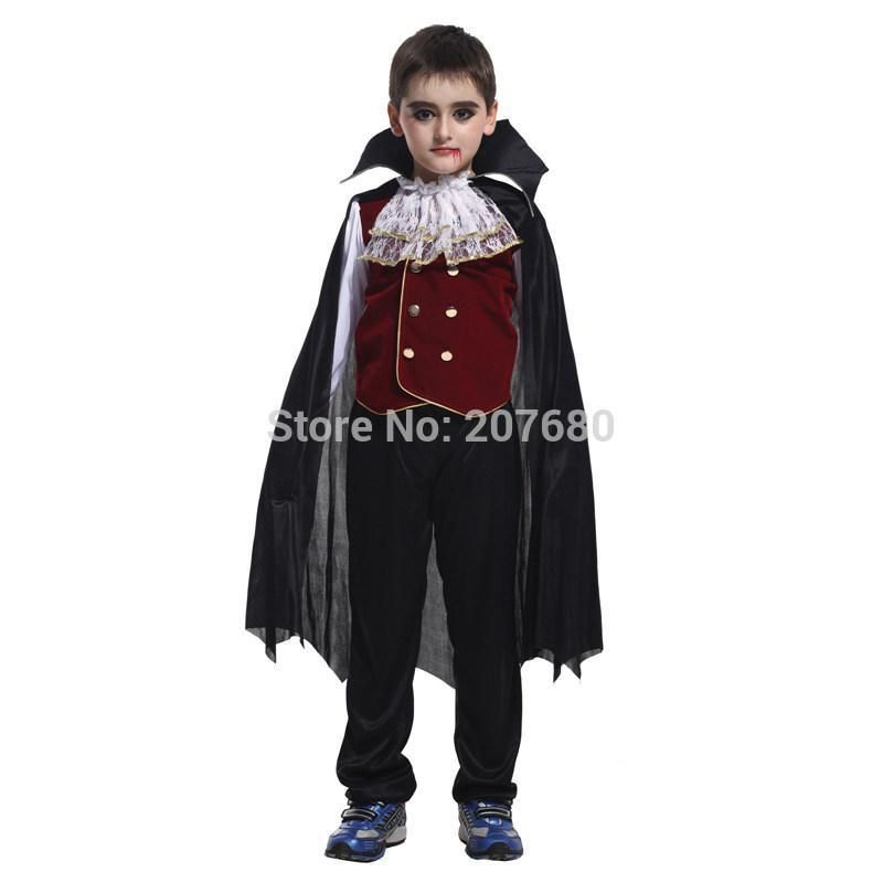 Childrens Halloween Gothic Vampire Girl Velvet Cape