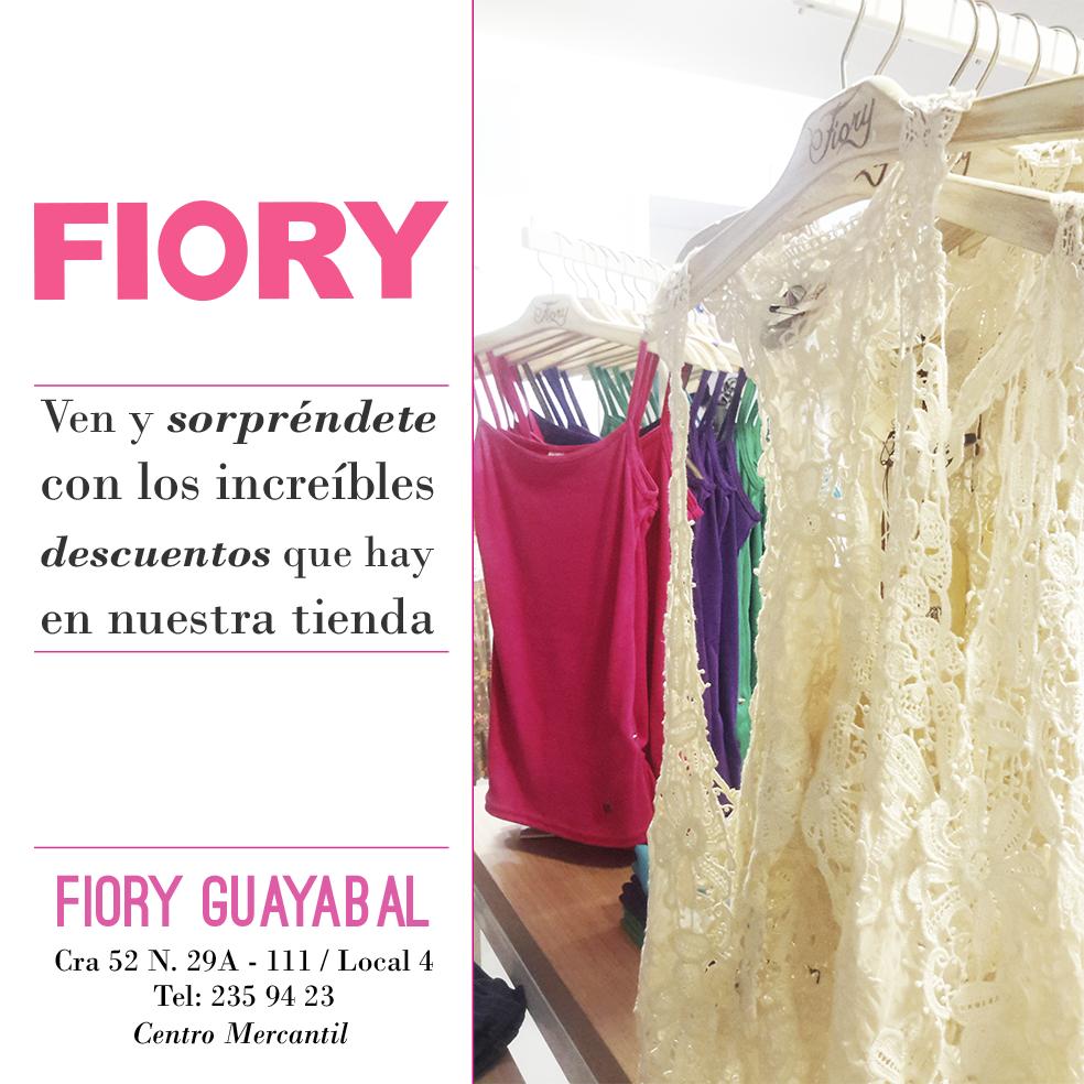 Visita nuestra tienda y encontrarás grandes descuentos!!  Fiory Guayabal, Cra. 52 N° 29A - 111 / Local 4.  Tel: 235 94 23 - Centro Mercantil. Medellín - Colombia. Te esperamos!!