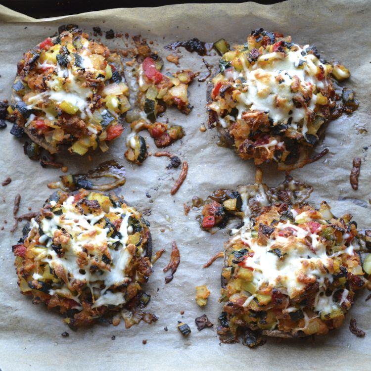 Vegetable Stuffed Portabella Mushrooms Recipe Food Recipes