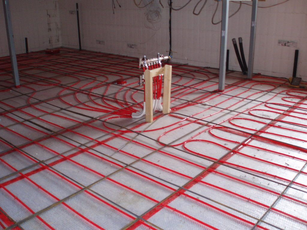 The Slurry Floor Will Cover The Piping For The Radiant