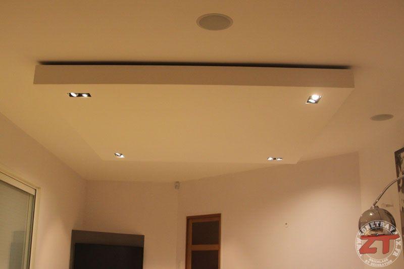brico  création d'un faux plafond avec ruban led et spots