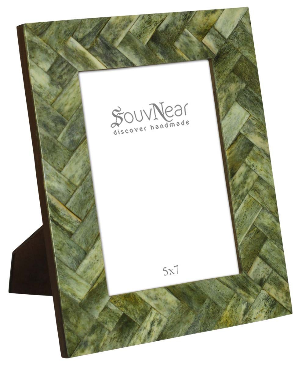 Wholesale 5x7 Inches Handmade Green Color Picture Frame
