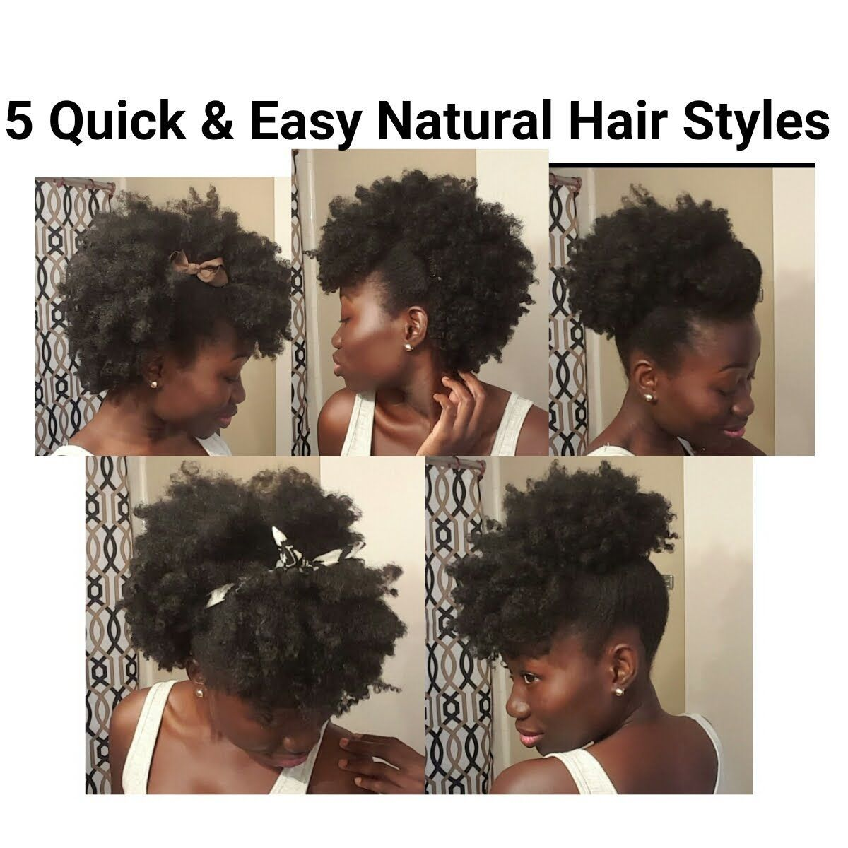 quick u easy natural hair styles shortmedium length