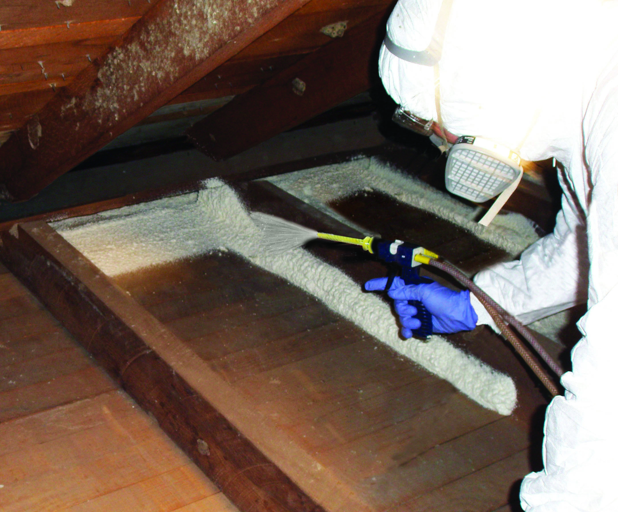 Attic Floor Wall Junctures Spray Insulating Foam Sealant To Cover Edges Of Wall Plate Where It Meets Attic Floor And Attic Flooring Plates On Wall Attic Design