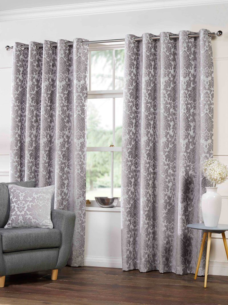 Camden Lined Eyelet Curtains In Silver Uk Delivery In 2020 Silver Curtains Curtain Designs Curtains Living Room
