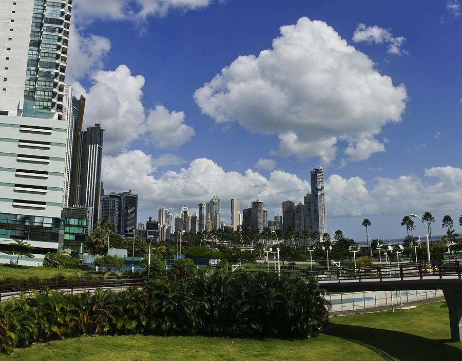 The vibrant and beautiful downtown view of Panama City, the capital and hub of the southern most North American country.