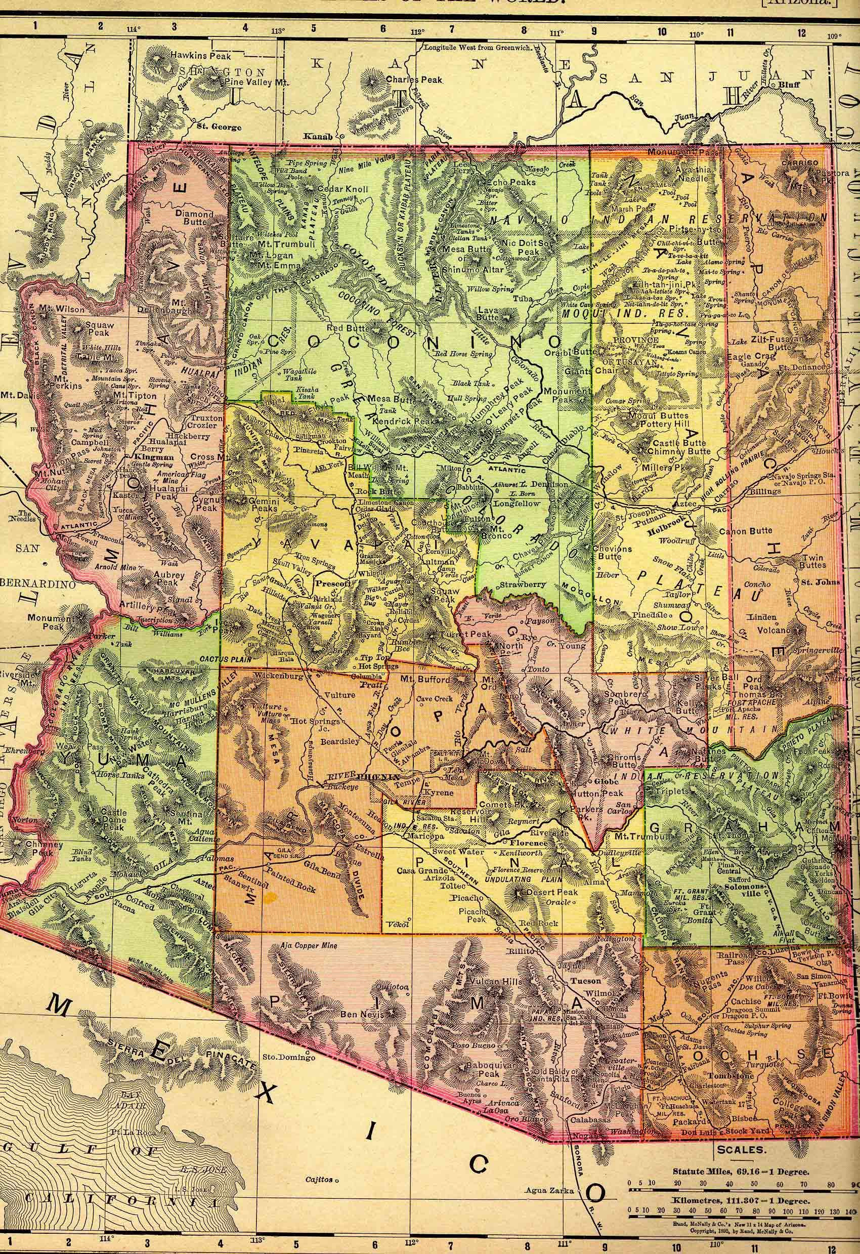 Governors Of Arizona Terrtory S To S Google Search - Rand macnally southwestern us road map