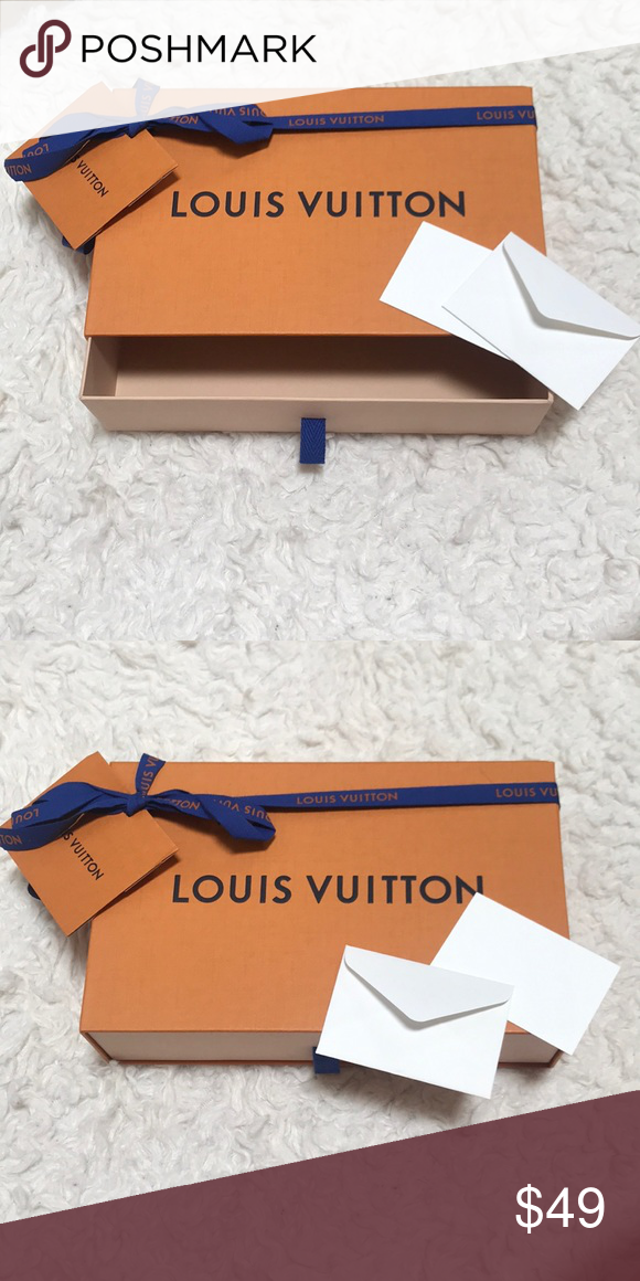 """9f62c73dec5b Authentic Louis Vuitton Gift Box 9 X 6"""" with ribbon"""
