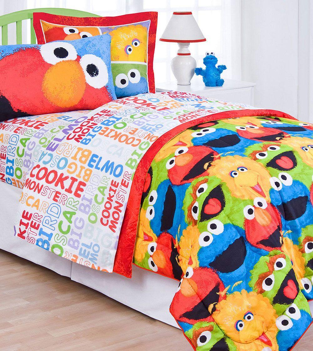 Sesame Street Comic Bedroom Collection Twin Bed Sheets Bird Elmo Bedding Set