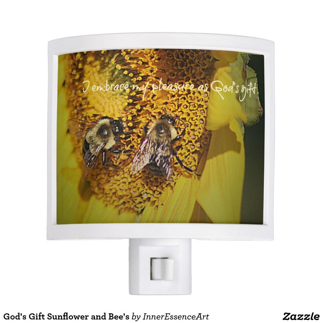 God's Gift Sunflower and Bee's Night Light