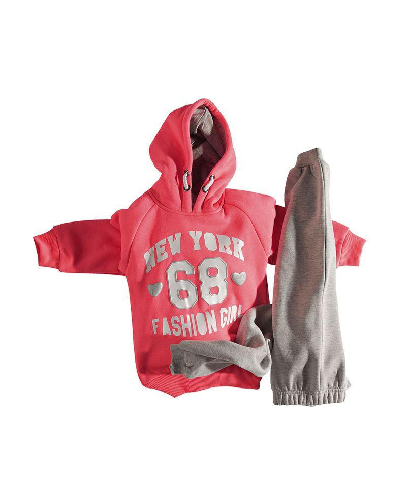 eff8f32f695 Φόρμα Φούτερ με κουκούλα | Poulain.gr | Παιδικά Ρούχα | Κορίτσι ...