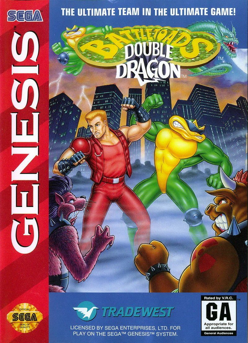 Battletoads Double Dragon Genesis Front Cover Double Dragon