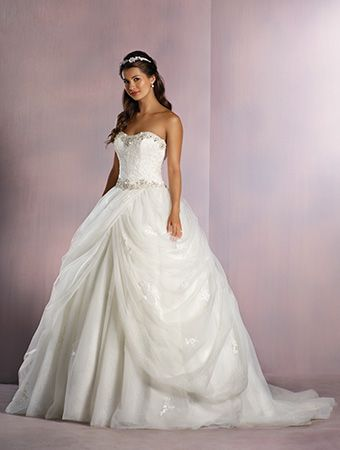 Alfred angelo belle style 254 ball gown wedding dress for Belle style wedding dress