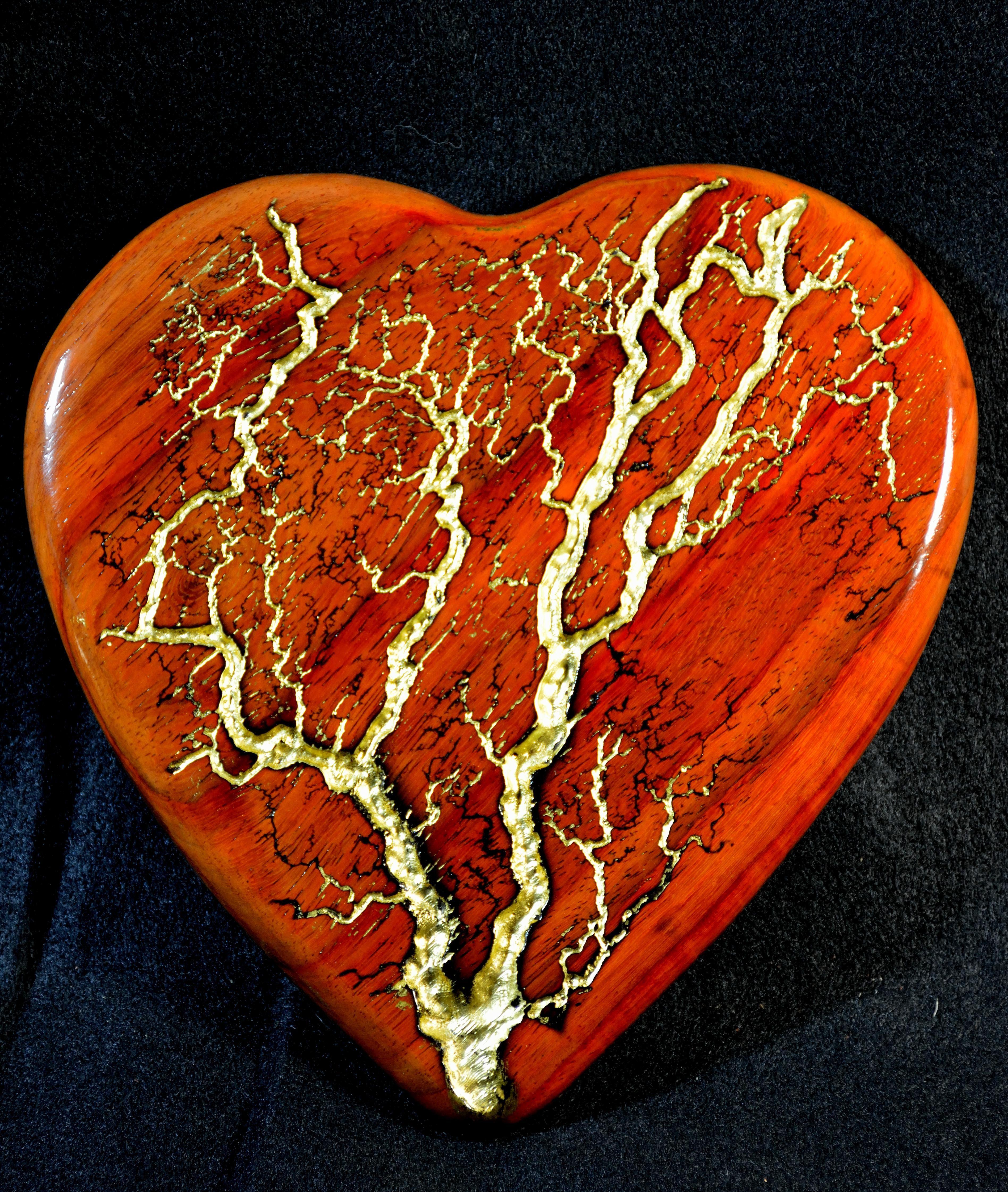 Golden Lightning Heart
