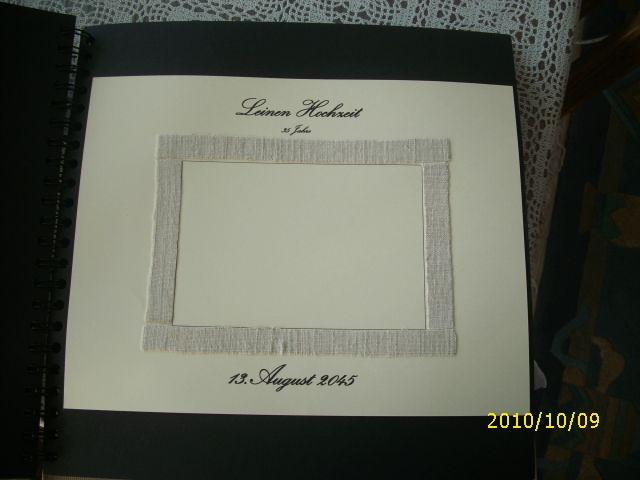 Leinenhochzeit 35 Jahre Hochzeitstagealbum