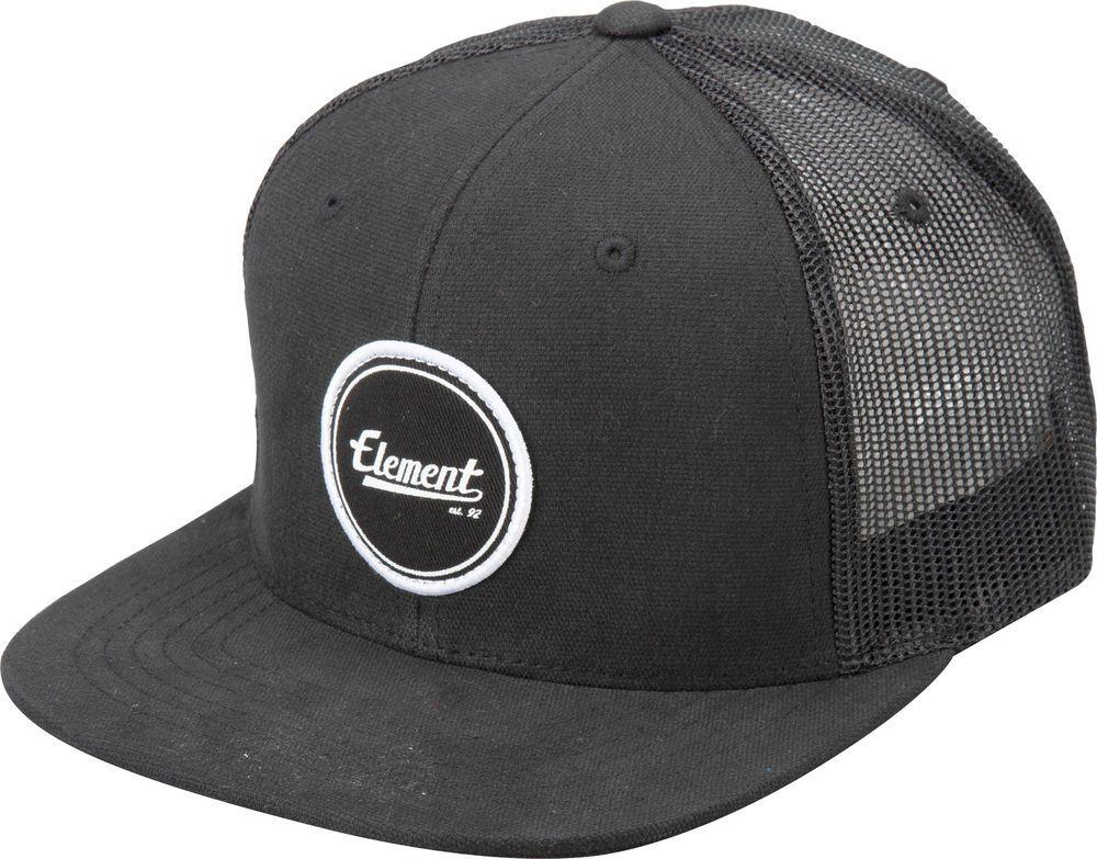 Gorra Cap Mens Element Trucker Impact Flint Black Street Skate Urban ... 6189546a062