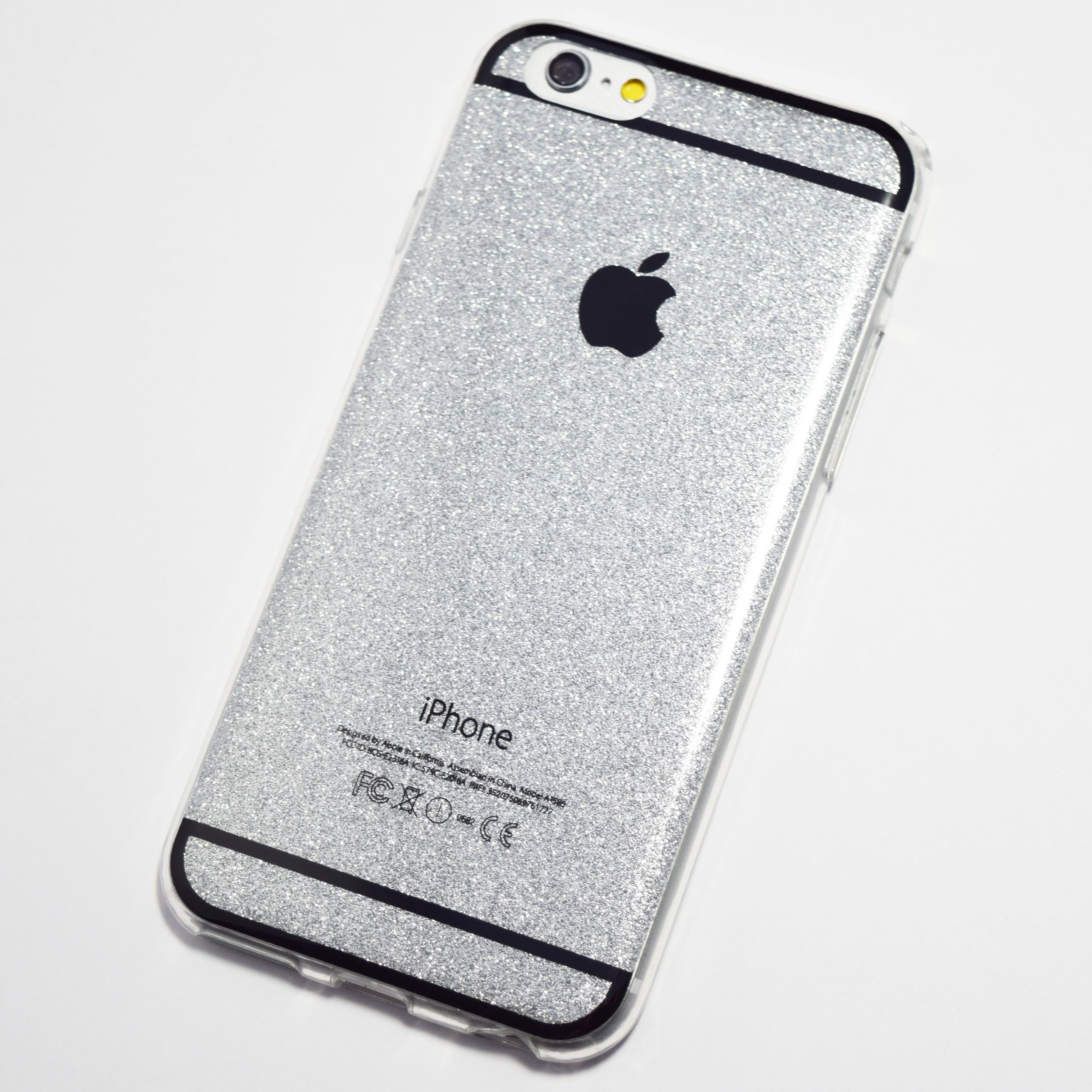 Silver Glitter Bling iPhone 6 6S Soft Case
