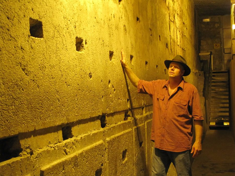 Temple Mount, Jerusalem - This ashlar stone is one of four stones that create what is called the Master Course. This stone is 41 feet long and weighs 570-630 tons. It is 15 feet wide and 11.5 high. The largest of the Master Course Stones here is 44 feet.