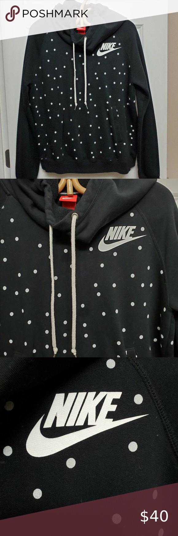 Polka Dot Black Nike Sweashirt L Black Nikes Soft Sweatshirts Hooded Sweatshirts [ 1740 x 580 Pixel ]