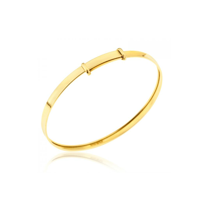 Baby Bangle 9k Gold Self Expanding Baby Bangles With Gift Box Baby Bangles Gold Baby Bangles Baby Jewelry