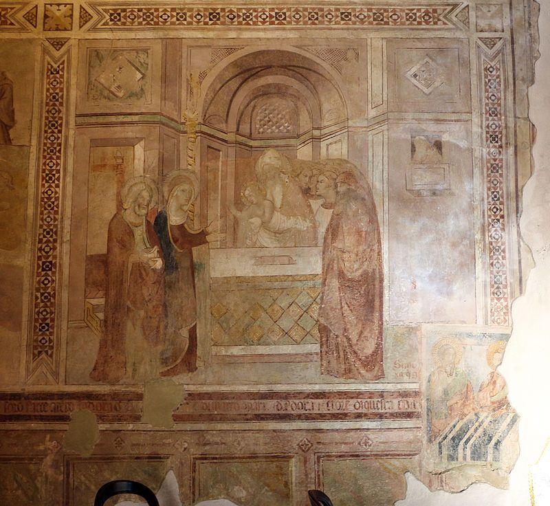Bartolo di Fredi (Scuola di) - Scene mariane - 1389 - affresco - Chiesa dei Santi Stefano e Lorenzo, Montepescali (Grosseto)