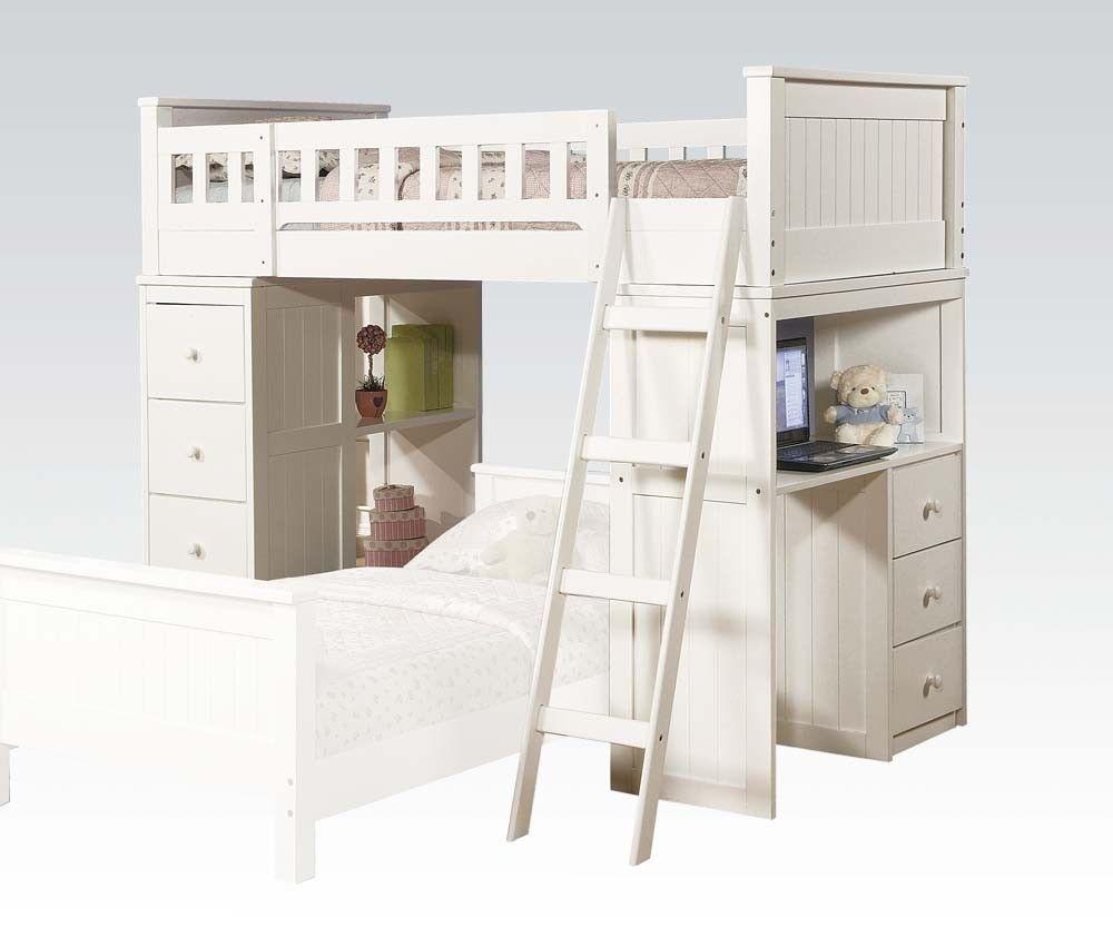 Loft bunk bed with desk  Twin Loft Bed Only  Princess  Pinterest  Loft beds Beds and Loft