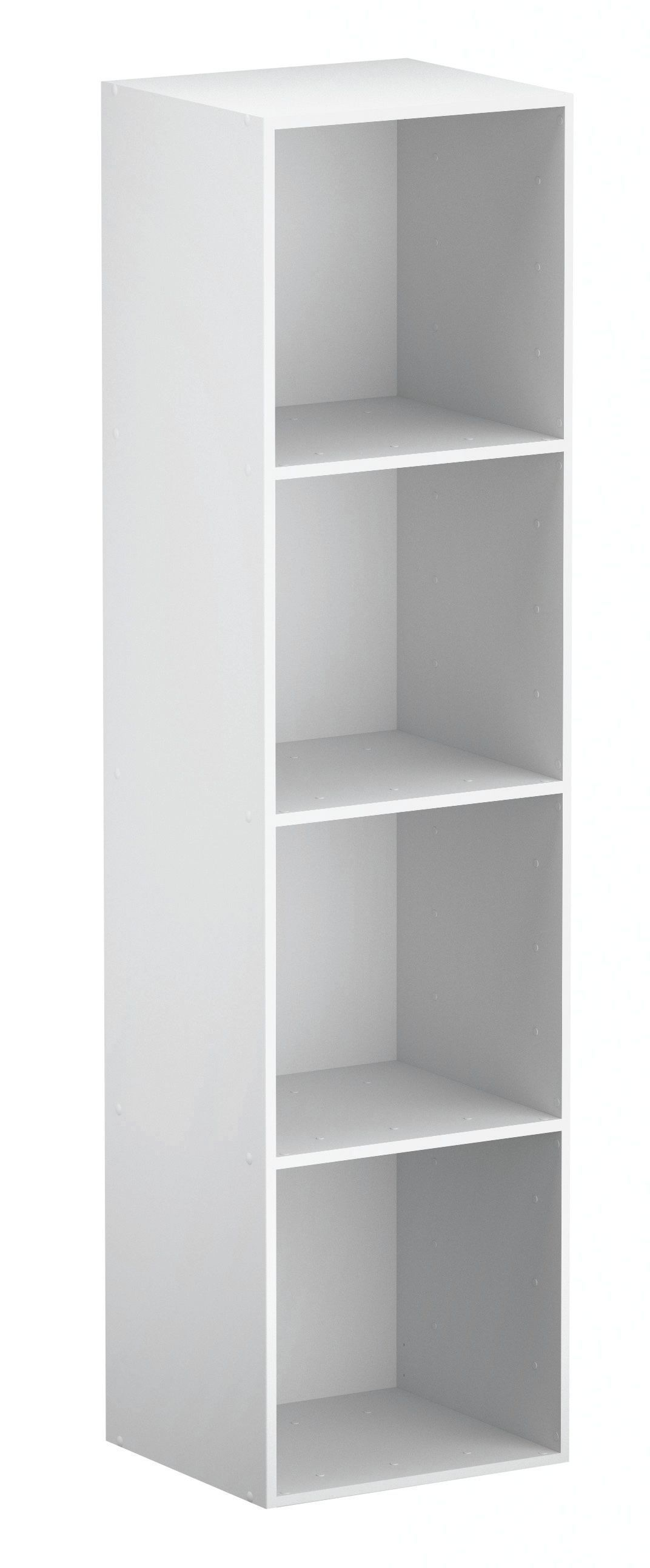 Form Konnect White 4 Cube Shelving Unit (H)1372mm (W)352mm