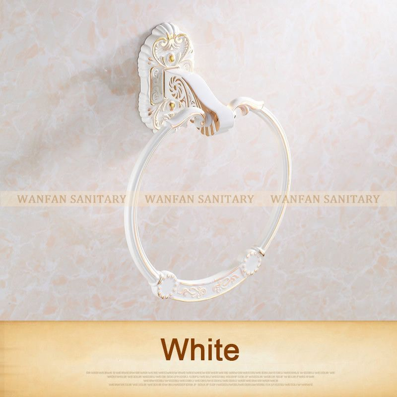 Bathroom chrome/golden/white finish Towel Ring Bathroom towel bar Accessories Products ,Towel Holder,Towel bar 5 styles 7604