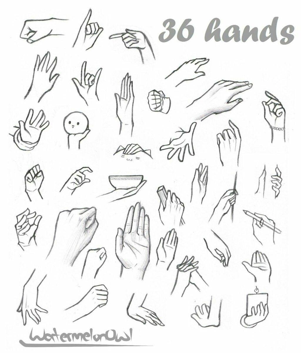 Pin de Fai Kanin em Drawing hands Como desenhar mãos