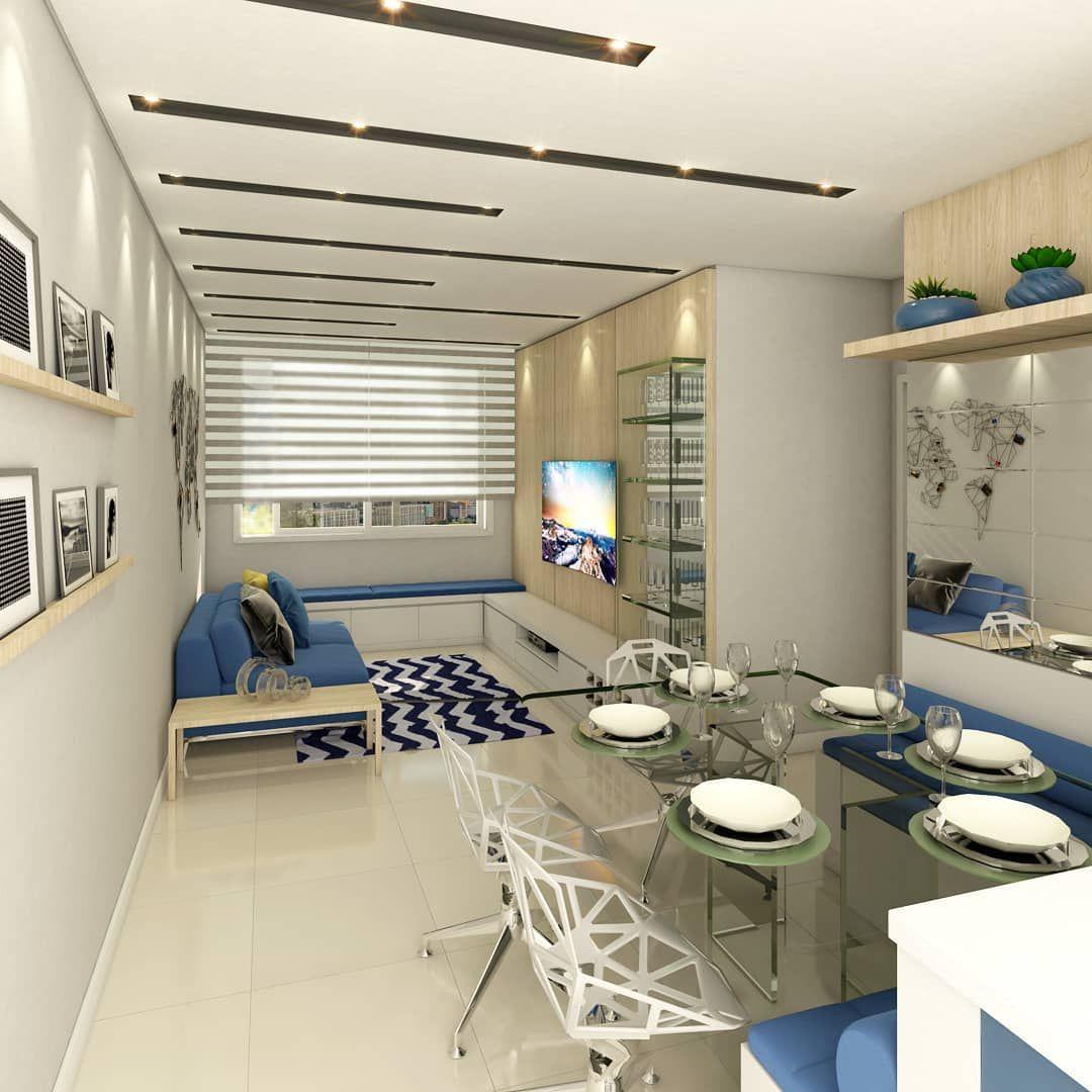 Photo of Zimmer ap. 303 – Architekturprojekt Coelho Lima Die blaue Farbe übernahm die Rolle von …