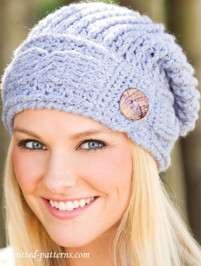 Cable hat crochet pattern free | Knitting | Pinterest | Gorros ...