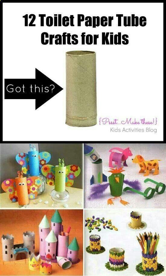 Manualidades para niños con rollos de papel higiénico.