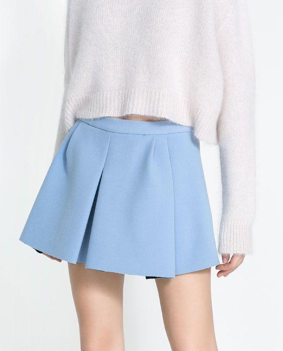 05fe8f2f3 Imagen 5 de FALDA MINI TABLAS de Zara | WANT | ZARA, Faldas azules y ...