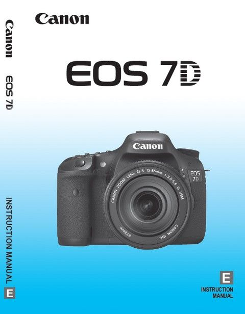 canon eos 7d manual instruction book free download pdf rh pinterest com canon 7d user manual download eos 7d instruction manual