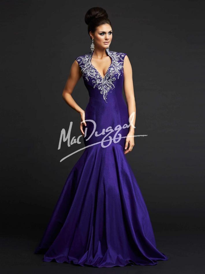 Royal Purple Pageant Gown | Mermaid Prom Dress | Mac Duggal 82230Y ...
