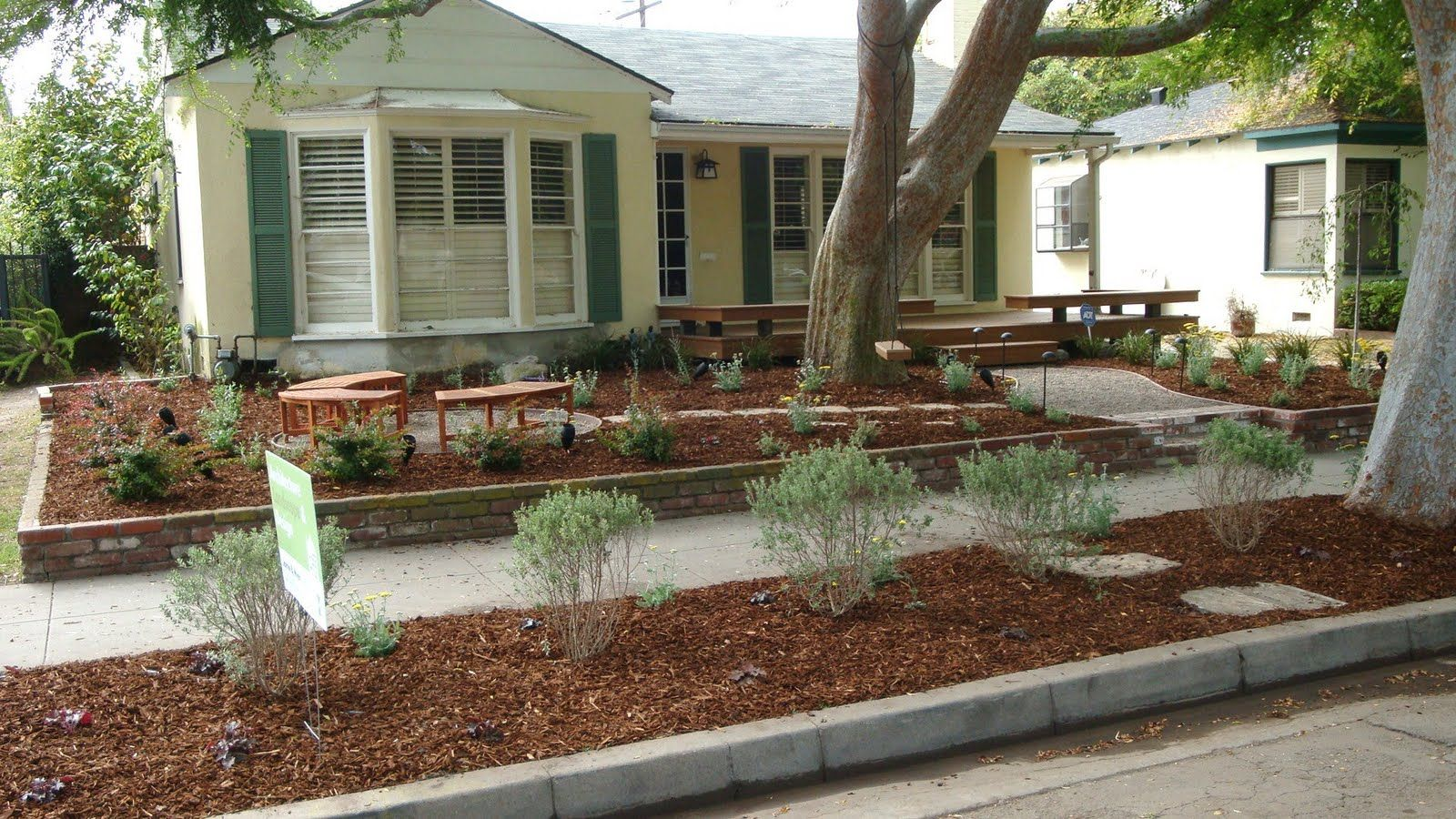 simple sidewalk planting - google