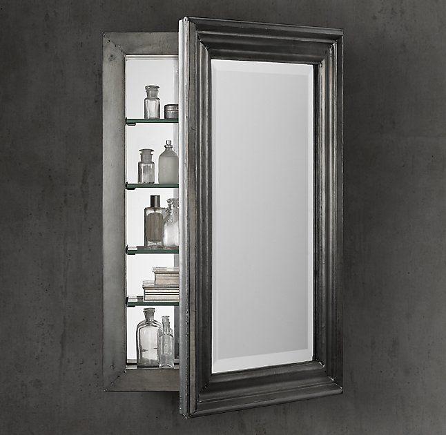 annecy metal wrapped medicine cabinet bathroom makeover zinc rh pinterest com