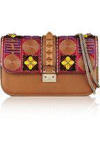 Valentino Glam Lock embroidered leather shoulder bag NET-A-PORTER.COM