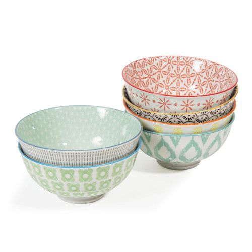 6 Bols En Porcelaine Micromotif Con Imagenes Cuencos Proyectos De Ceramica Vajillas