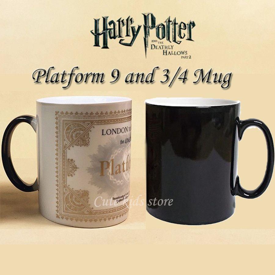 Harry Potter Marauders Map Magic Hot Cold Heat Temperature Sensitive Color Changing Coffee Tea Milk Mug Cup Mugs Harry Potter Mugs Harry Potter Marauders Map