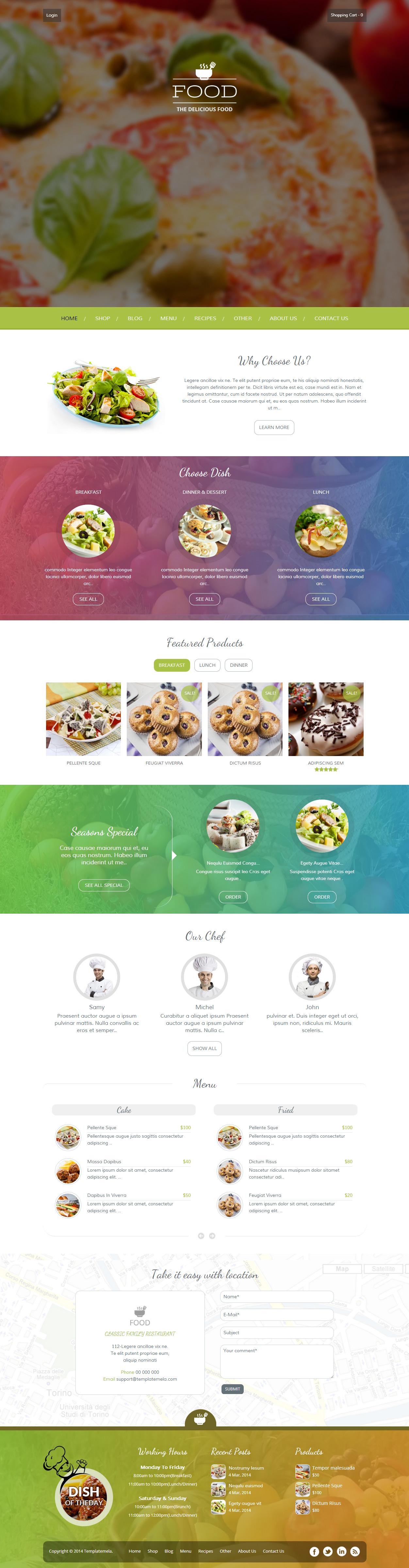 Food is Premium Responsive WordPress eCommerce theme. WooCommerce. Retina Ready. Slider Revolution.