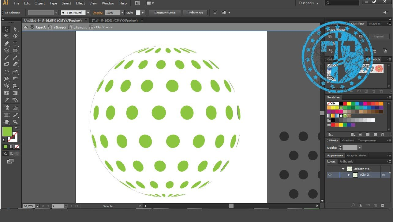 How to create 3D Sphere pattern in Adobe Illustrator