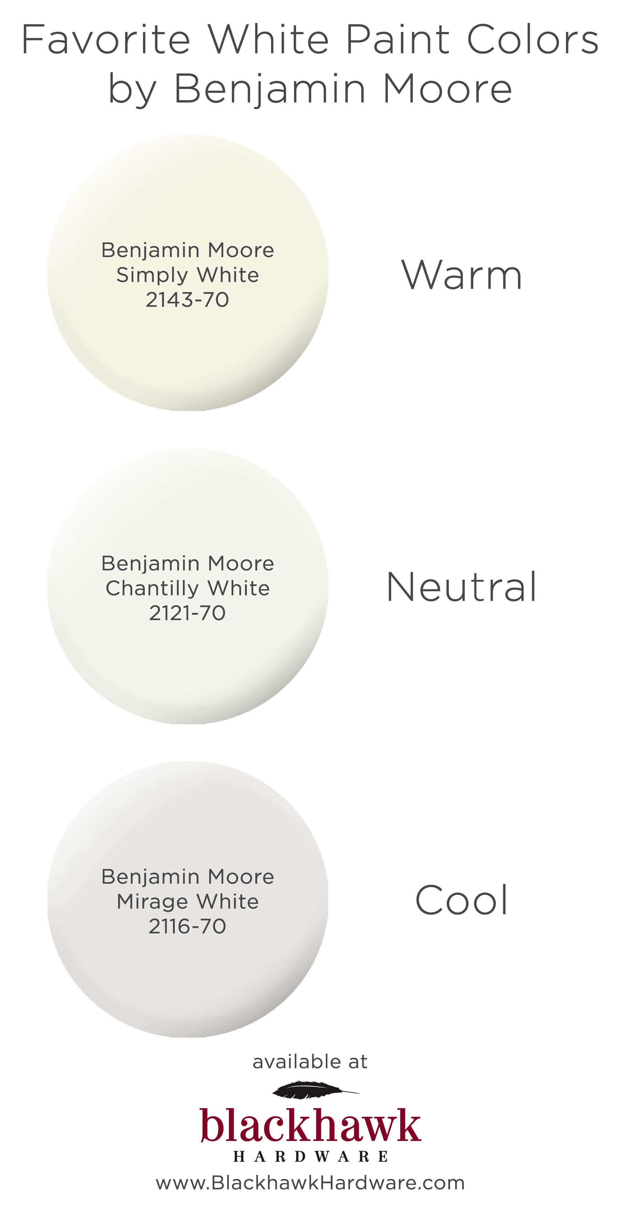 Three Best White Paint Colors by Benjamin Moore images