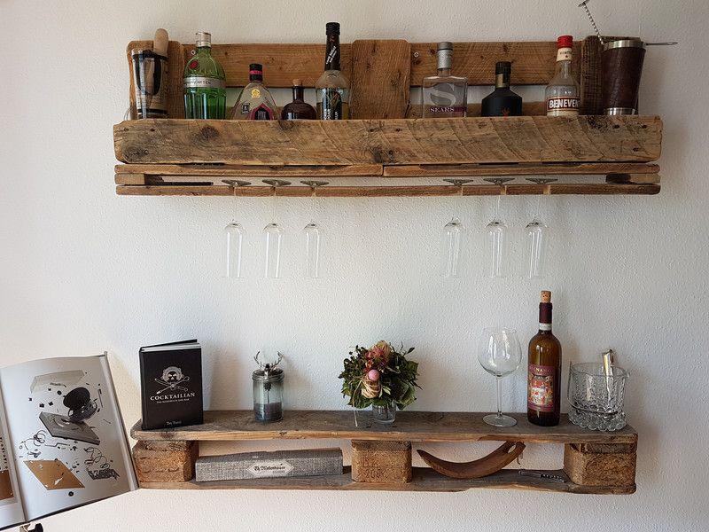 wandregale rustikale vintage wandbar wandregal palettenm bel ein designerst ck von. Black Bedroom Furniture Sets. Home Design Ideas