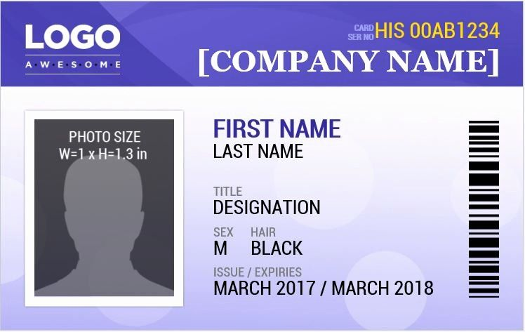 Free Id Card Template Word Beautiful Employee Id Card Template Microsoft Word Templates Data Id Card Template Employee Id Card Name Badge Template